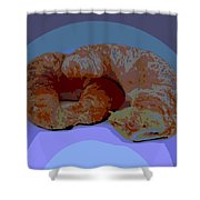 Croissants In Love Shower Curtain