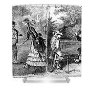 Croquet, 1873 Shower Curtain