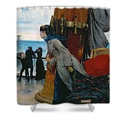 Cross Atlantic Voyage Shower Curtain by Henry Bacon