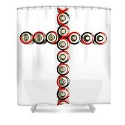 Cross Batteries 1 B Shower Curtain