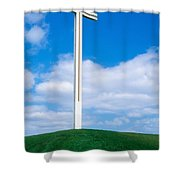 Cross Built For The Late Pope John Paul Shower Curtain