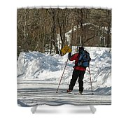 Cross Country Skier On Cape Cod Shower Curtain
