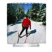 Cross-country Skiing, Lake Placid, New Shower Curtain