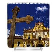 Cross Outside San Cristobal De Las Shower Curtain