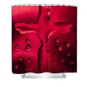 Cross Red Syrup 1 C Shower Curtain