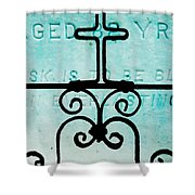 Crosses Voided Shower Curtain