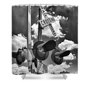 Crossing At Rt 36 13989b Shower Curtain