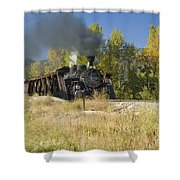 Crossing Hermosa Creek Shower Curtain