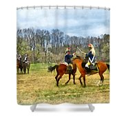 Crossing Sabers Shower Curtain