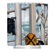 Crossing Signs Shower Curtain