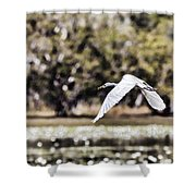 Crossing The Billabong Shower Curtain
