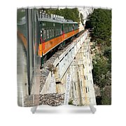 Crossing The Gorge Shower Curtain