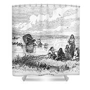Crossing The Platte, 1859 Shower Curtain by Granger