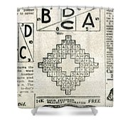 Crossword Puzzle, 1913 Shower Curtain