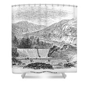 Croton Dam, 1860 Shower Curtain