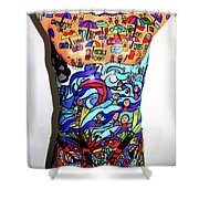Crowded Beach Activities Shower Curtain