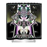 Crown And Jeweled Lotus Flowers Fractal 124 Shower Curtain