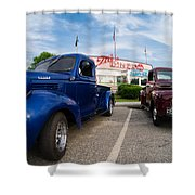 Cruise Night At The Diner Shower Curtain