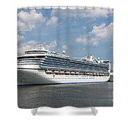 Cruise Ships At Cruiseport Boston Shower Curtain