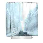 Cruising In A Snowstorm Shower Curtain
