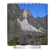 Crumble Mountain Shower Curtain
