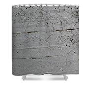 Crumbling Concrete Shower Curtain