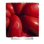 Crunchy Red Pepper Shower Curtain