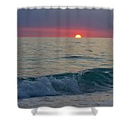 Crystal Blue Waters At Sunset In Treasure Island Florida 5 Shower Curtain