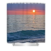 Crystal Blue Waters At Sunset In Treasure Island Florida Shower Curtain