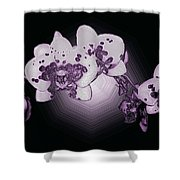 Crystal Butterfly Orchid Shower Curtain
