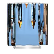 Crystal Cathedral Tower Points Shower Curtain