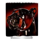 Crystal Cougar Head II Shower Curtain