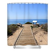 Crystal Cove State Park Ocean Overlook Shower Curtain