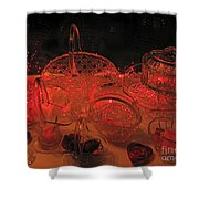 Crystal In Red  Shower Curtain