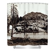 Crystal Lake And Black Butte - California - C 1865 Shower Curtain