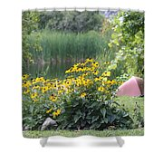 Crystal Lake State Park In Barton Vermont Shower Curtain