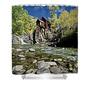 Crystal Mill In Autumn Shower Curtain
