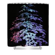 Crystal Tree In Color Shower Curtain