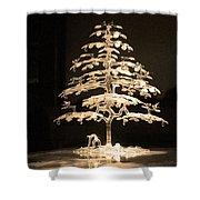 Crystal Tree Shower Curtain