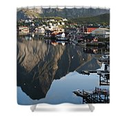 Crystal Waters At Reine Village Shower Curtain