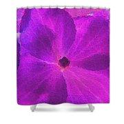 Crystelized Hydrangea Bloom Art Shower Curtain