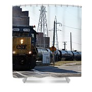 Csx Train Shower Curtain