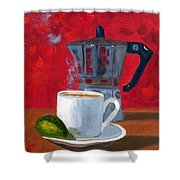 Cuban Coffee And Lime Red R62012 Shower Curtain