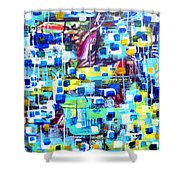 Cubic Animation Shower Curtain