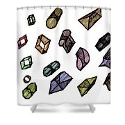 Cubical Thoughts Shower Curtain