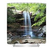 Cucumber Falls Pool Shower Curtain