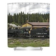 Cumbres Pass Water Stop Shower Curtain