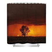 Cumulonimbus Cloud And Cottonwood Tree Shower Curtain