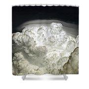 Cumulus Congestus Cloud With Pileus Shower Curtain