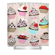 Cupcake  Shower Curtain by Setsiri Silapasuwanchai